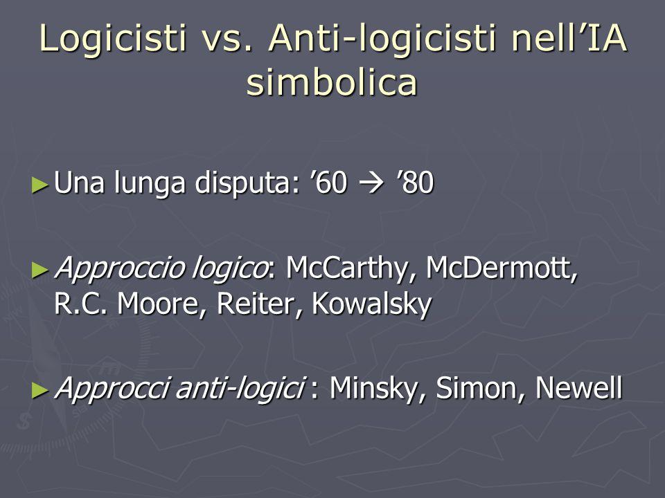 Logicisti vs. Anti-logicisti nell'IA simbolica