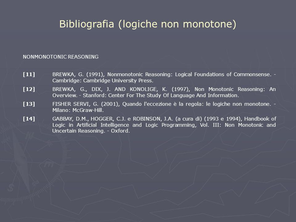Bibliografia (logiche non monotone)
