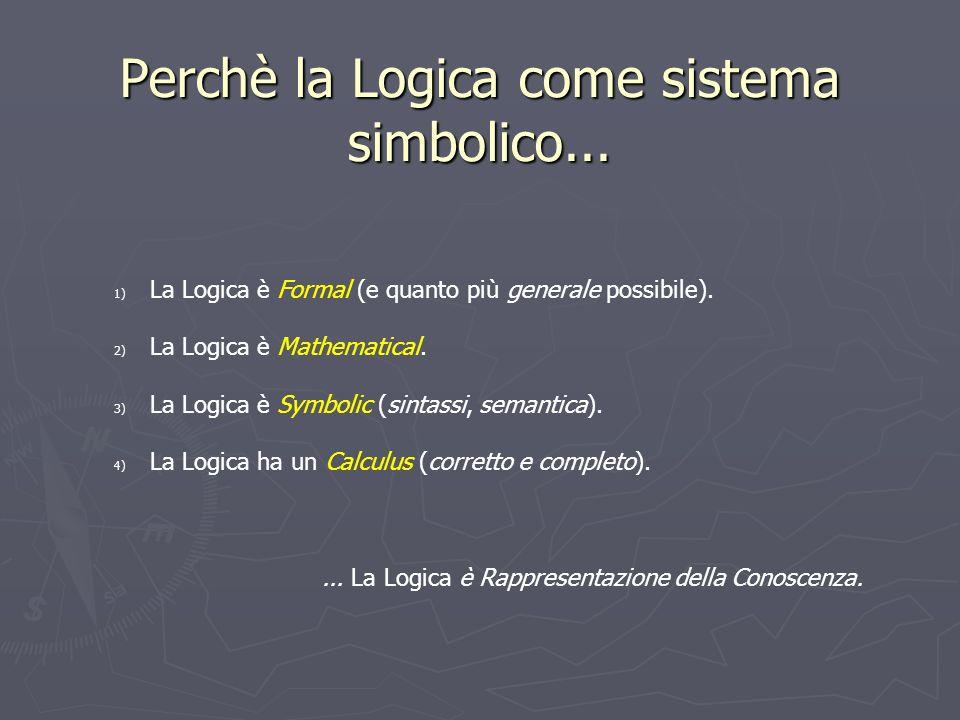 Perchè la Logica come sistema simbolico...