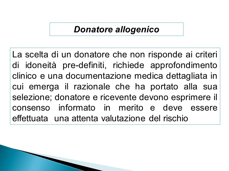 Donatore allogenico