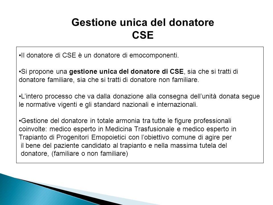Gestione unica del donatore CSE