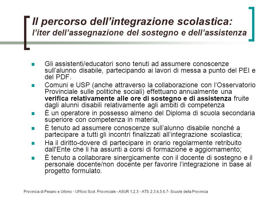 Il percorso dell'integrazione scolastica: l'iter dell'assegnazione del sostegno e dell'assistenza