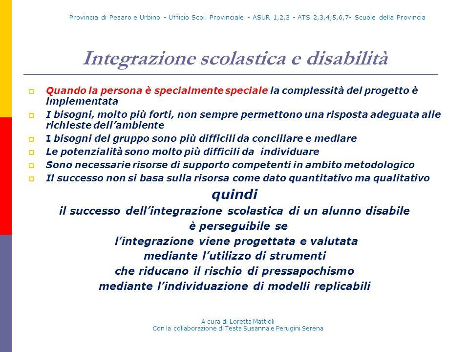 Integrazione scolastica e disabilità