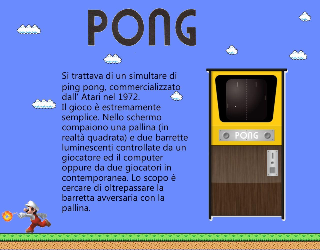 Si trattava di un simultare di ping pong, commercializzato dall' Atari nel 1972.