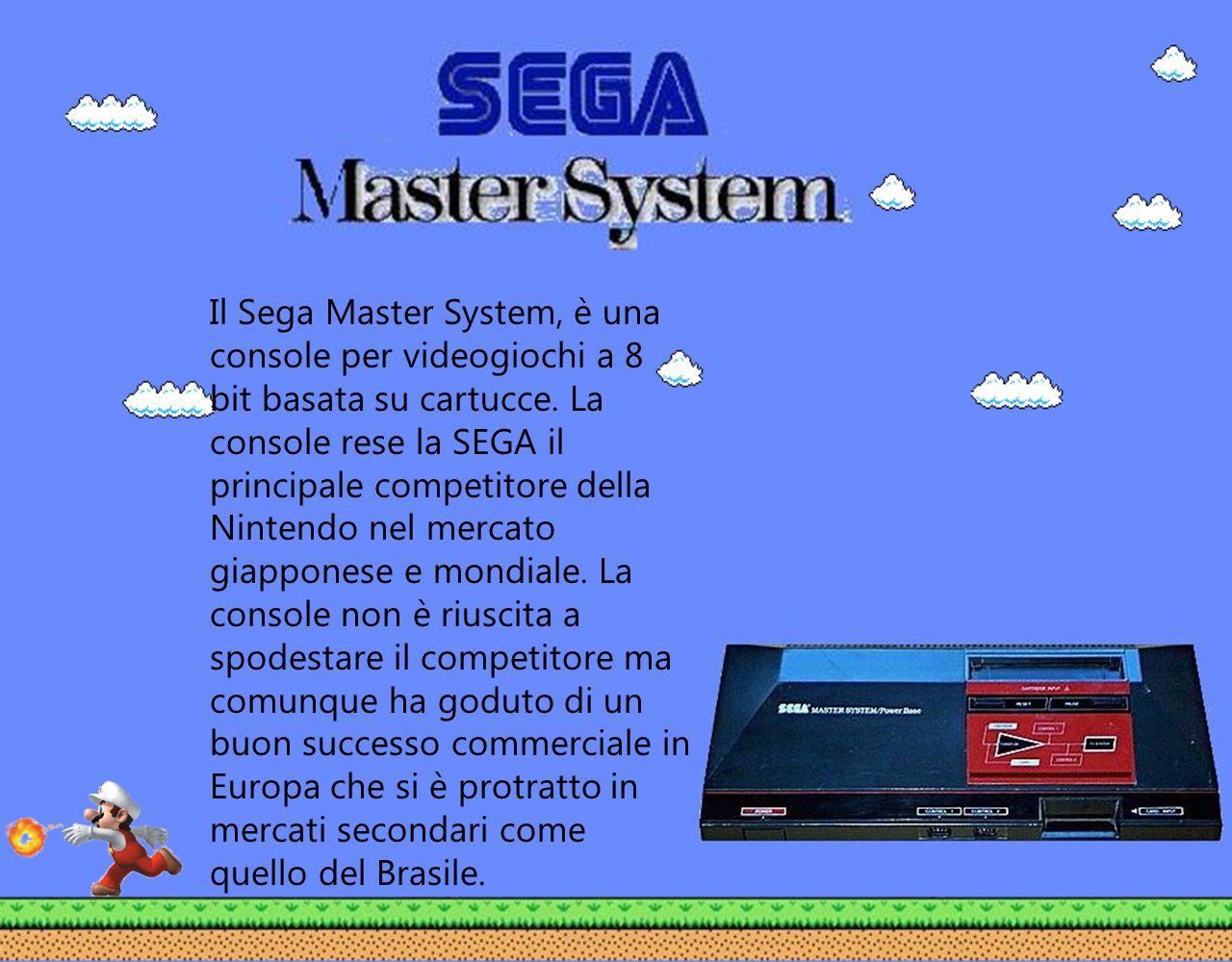 Il Sega Master System, è una console per videogiochi a 8 bit basata su cartucce.