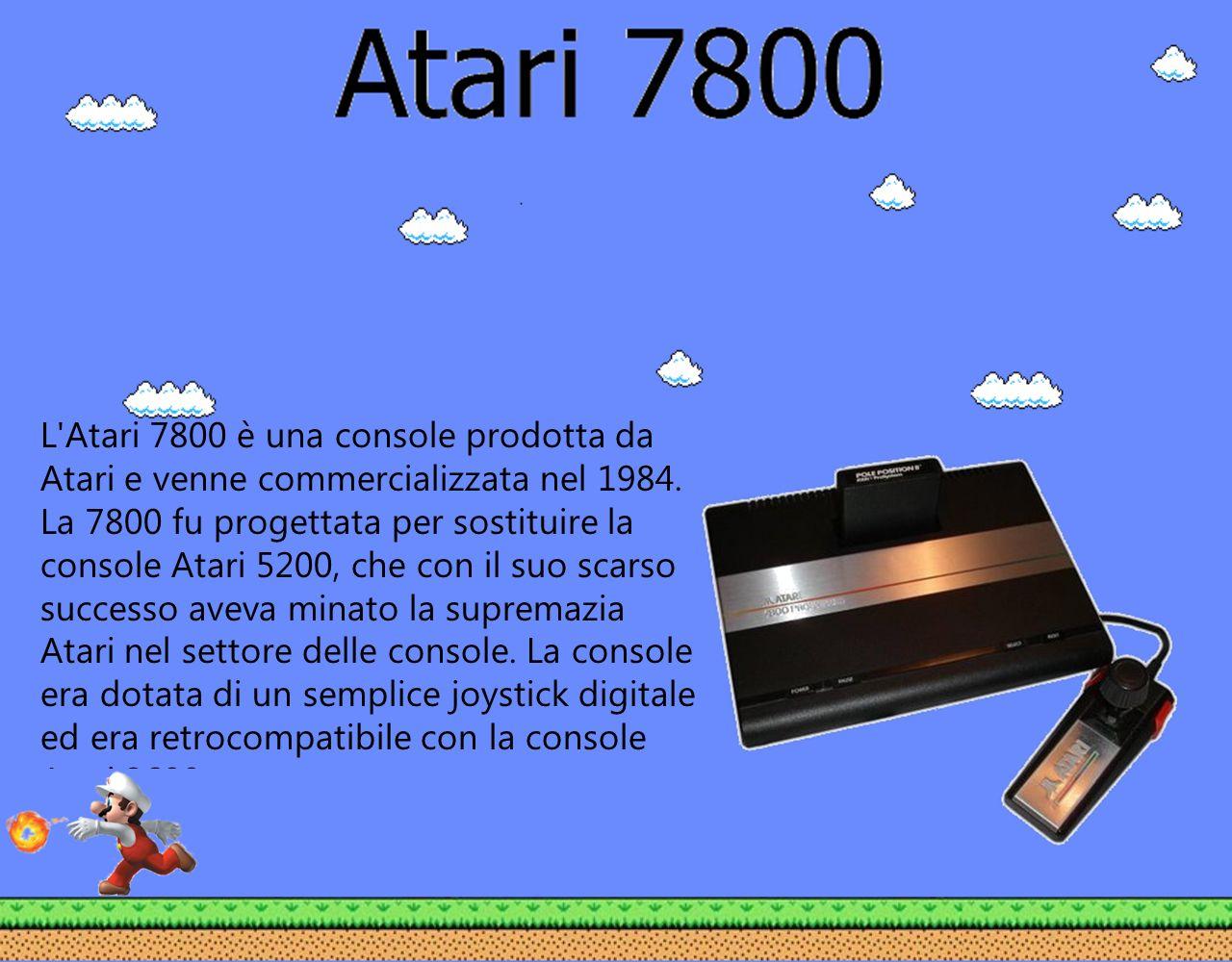 L Atari 7800 è una console prodotta da Atari e venne commercializzata nel 1984.