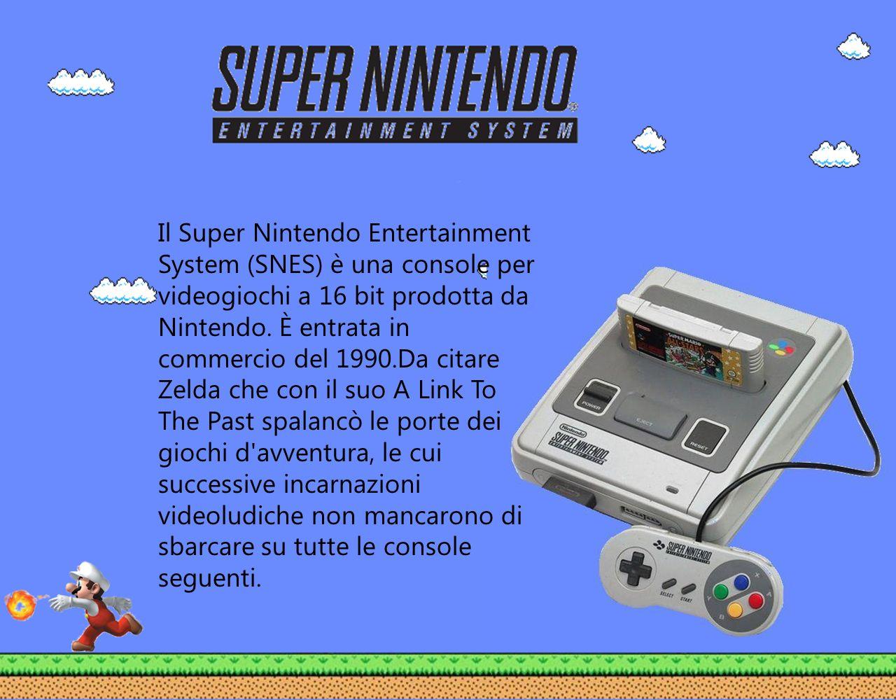 Il Super Nintendo Entertainment System (SNES) è una console per videogiochi a 16 bit prodotta da Nintendo.