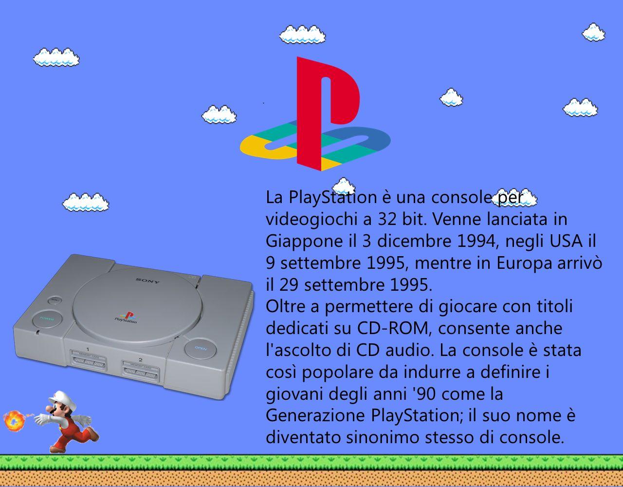 La PlayStation è una console per videogiochi a 32 bit
