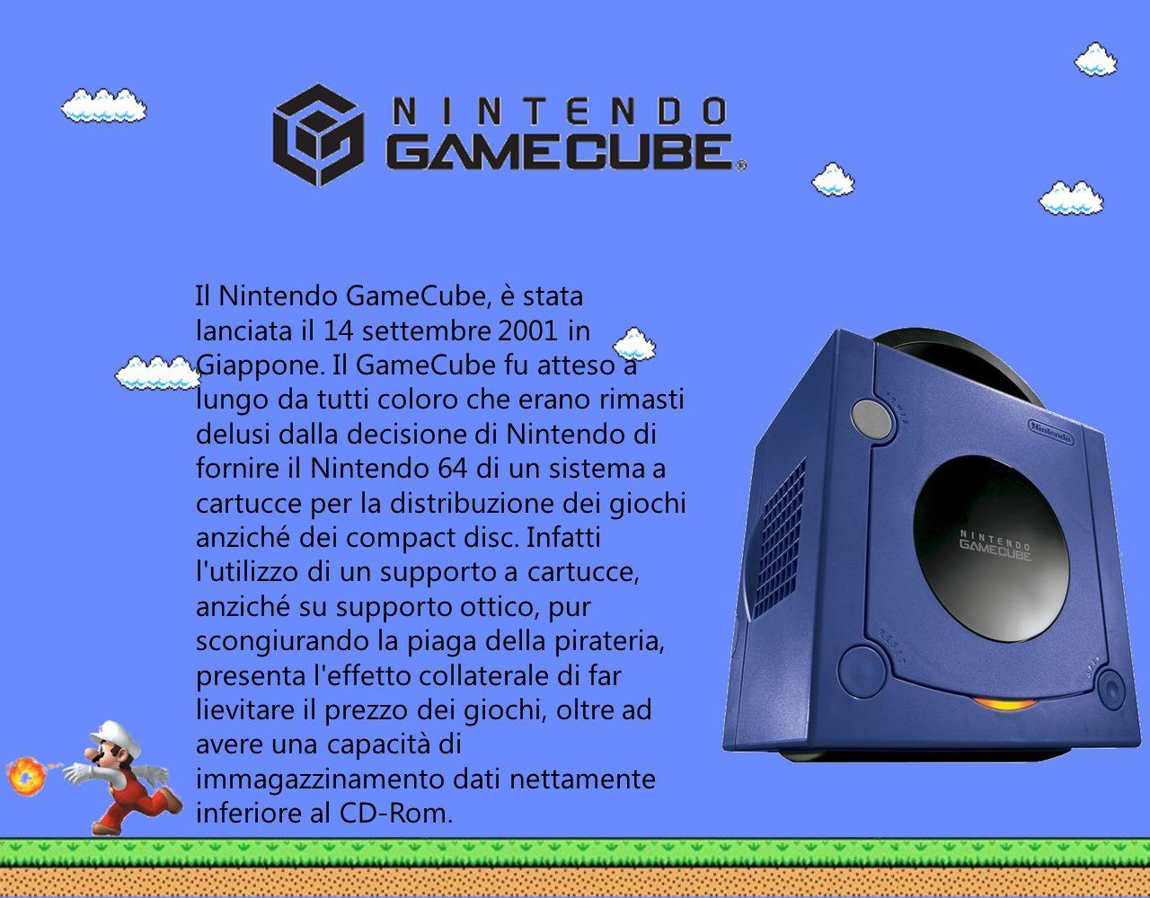 Il Nintendo GameCube, è stata lanciata il 14 settembre 2001 in Giappone.