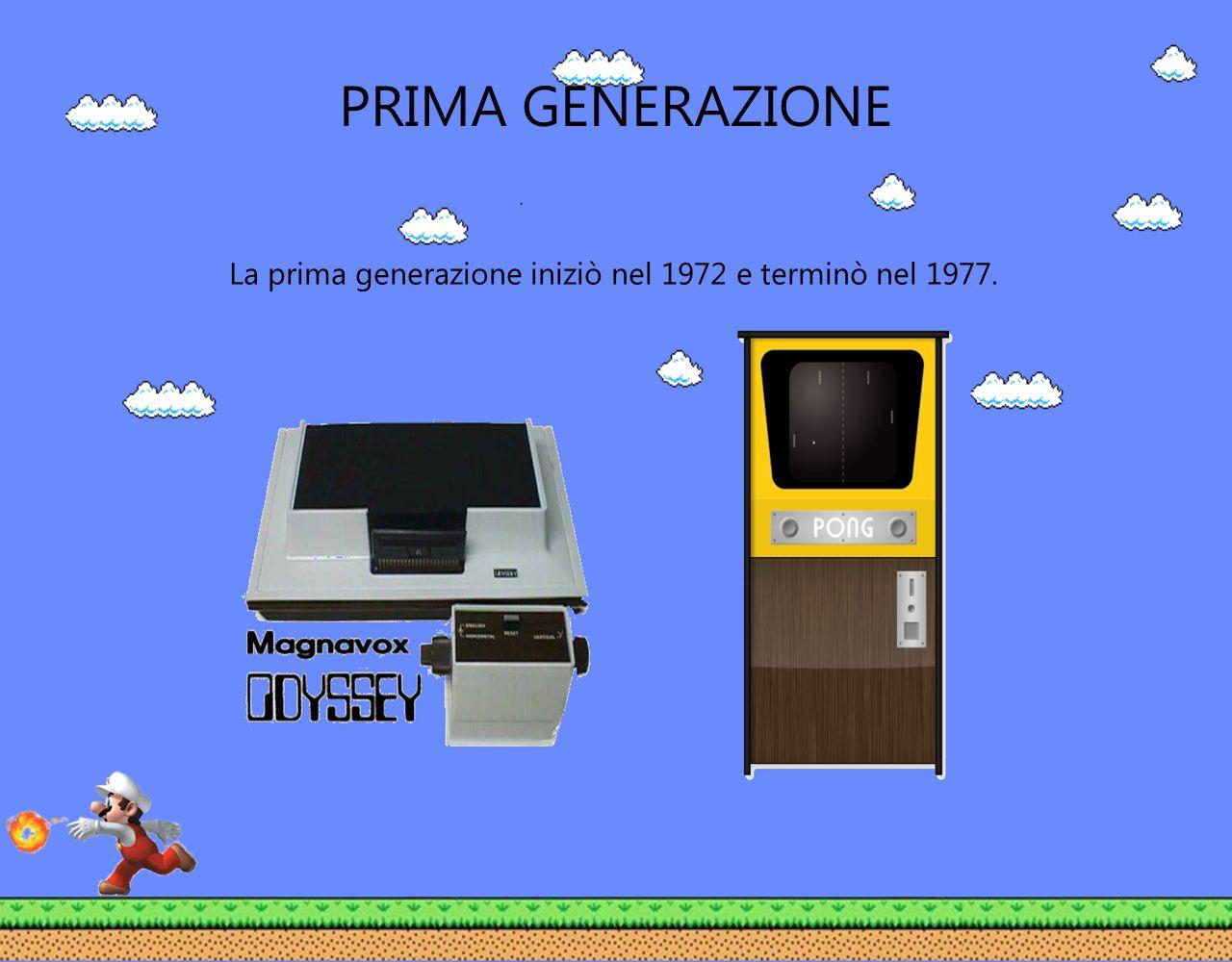 La prima generazione iniziò nel 1972 e terminò nel 1977.