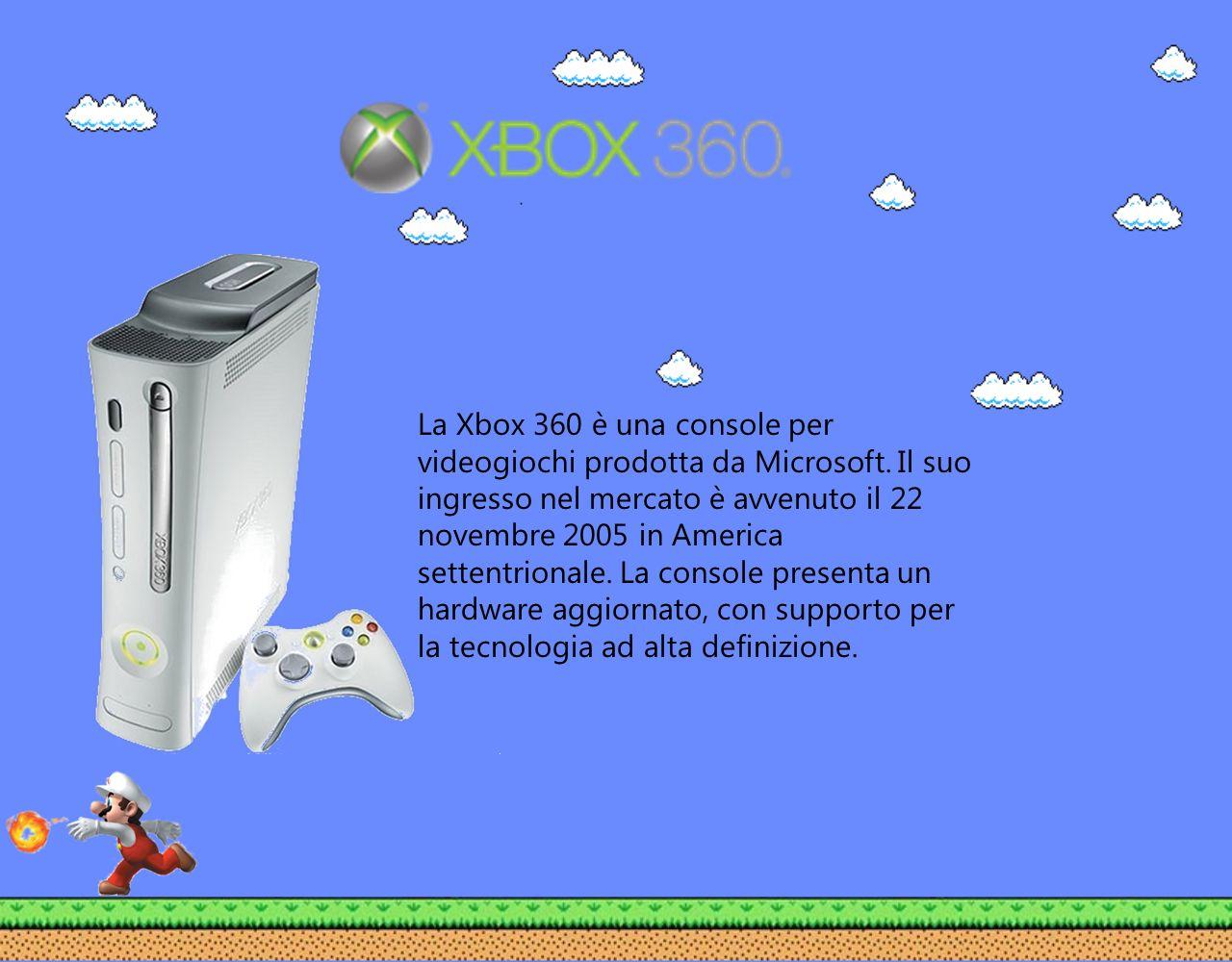 La Xbox 360 è una console per videogiochi prodotta da Microsoft