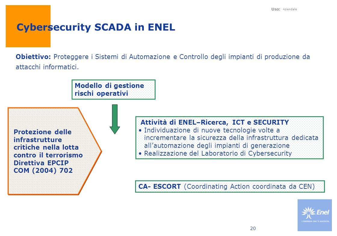 Cybersecurity SCADA in ENEL