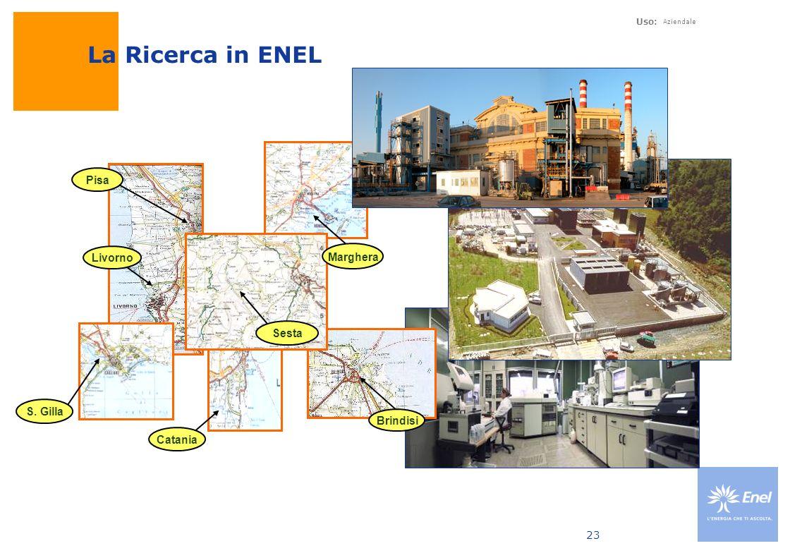 La Ricerca in ENEL Pisa Marghera Livorno Sesta S. Gilla Brindisi