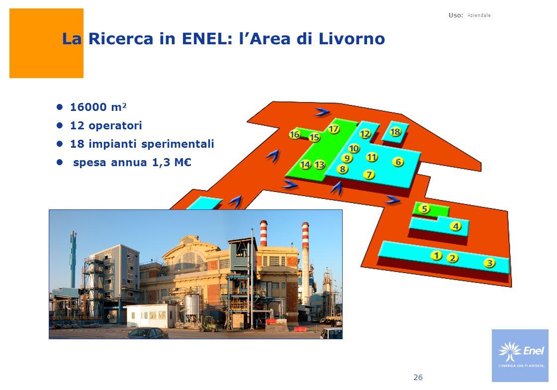 La Ricerca in ENEL: l'Area di Livorno