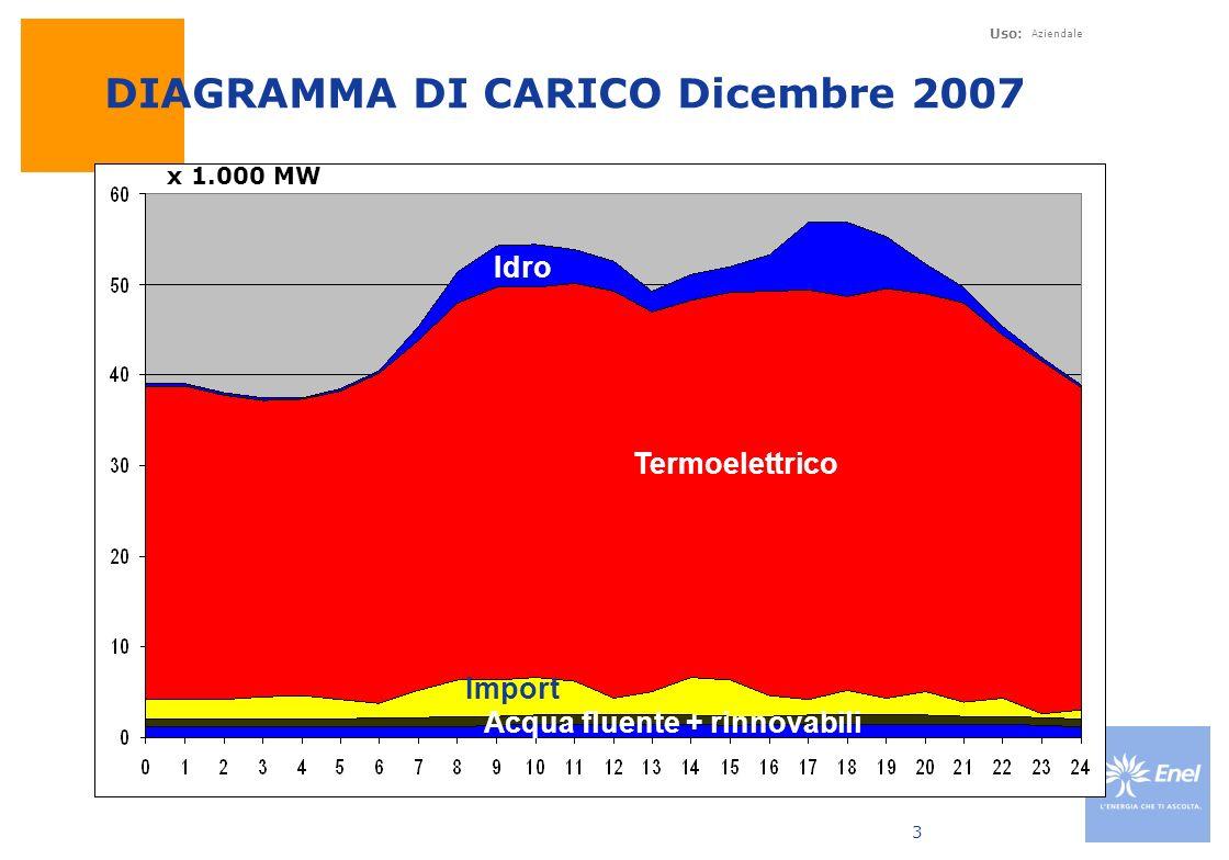DIAGRAMMA DI CARICO Dicembre 2007