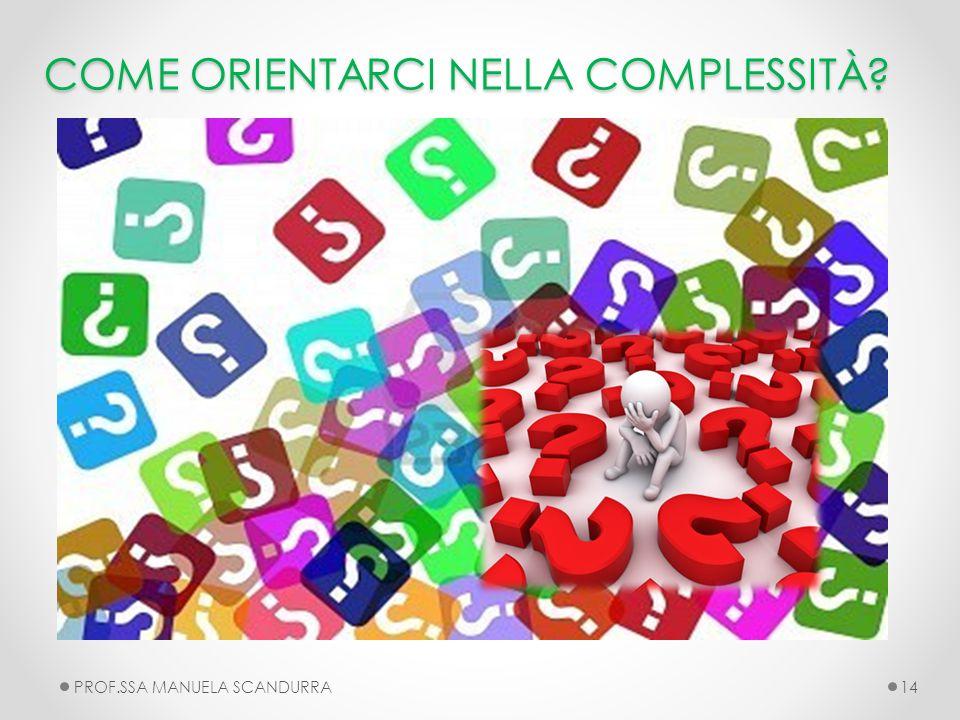 COME ORIENTARCI NELLA COMPLESSITÀ