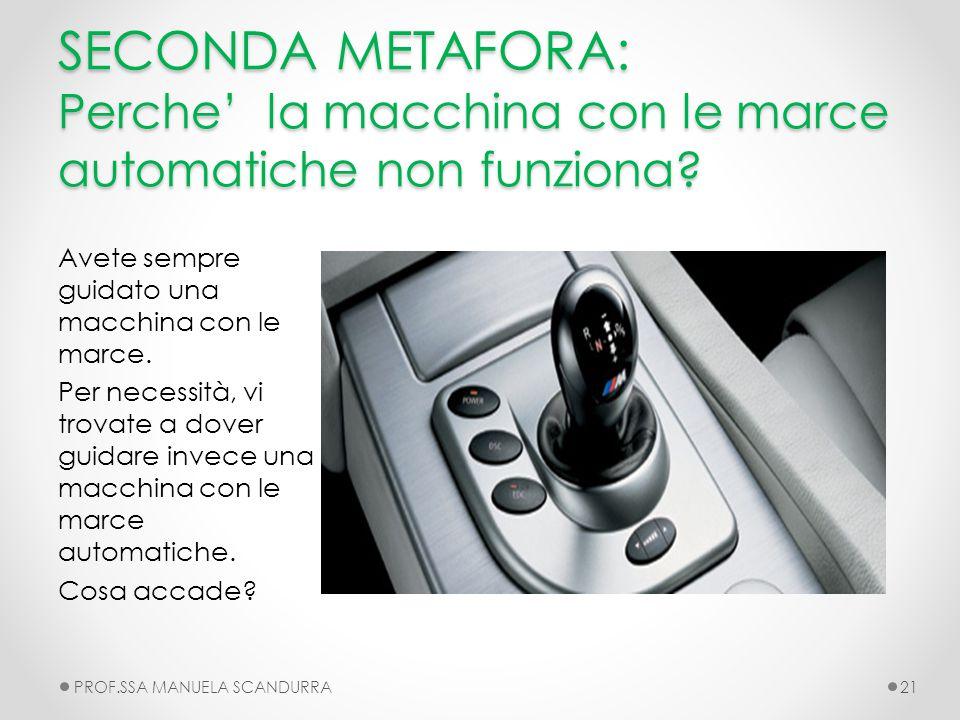 SECONDA METAFORA: Perche' la macchina con le marce automatiche non funziona
