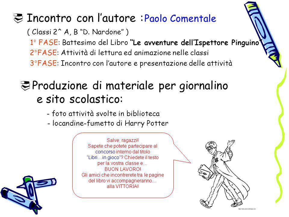 Incontro con l'autore : Paolo Comentale