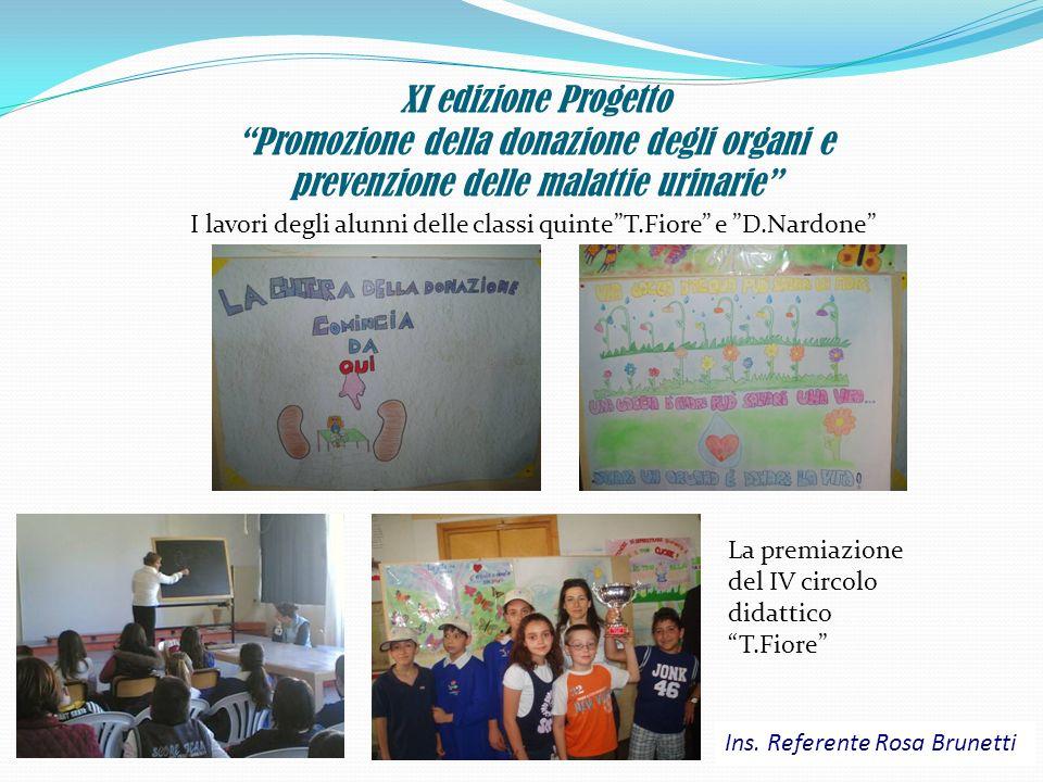 XI edizione Progetto Promozione della donazione degli organi e prevenzione delle malattie urinarie