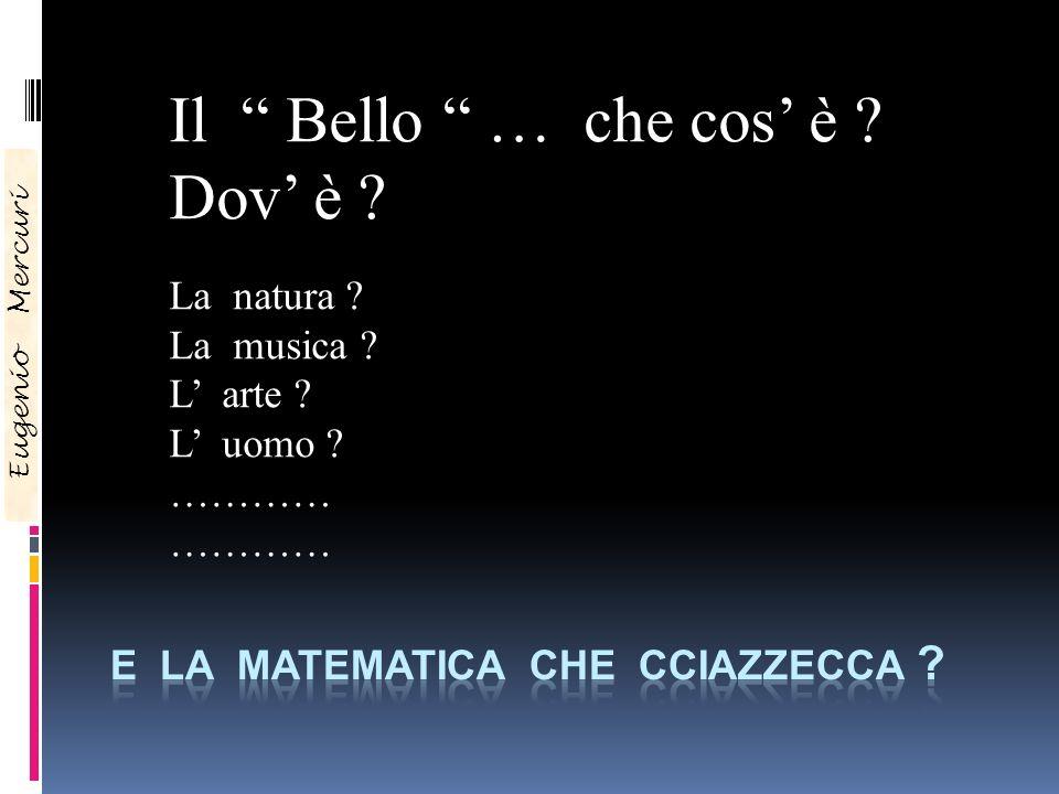 E la matematica che cciazzecca