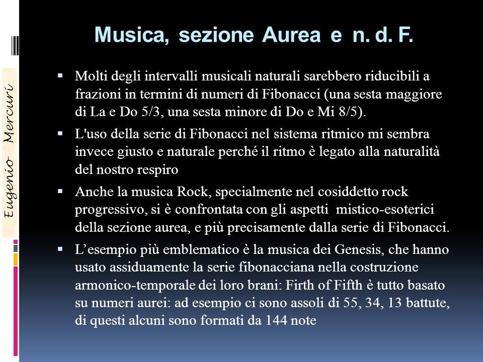 Musica, sezione Aurea e n. d. F.
