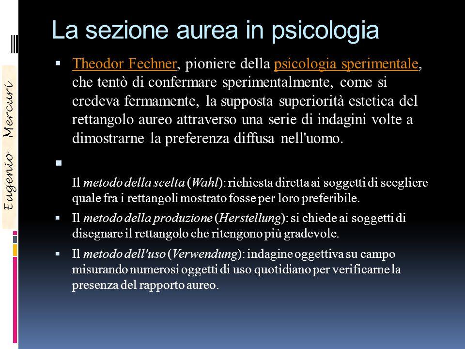 La sezione aurea in psicologia