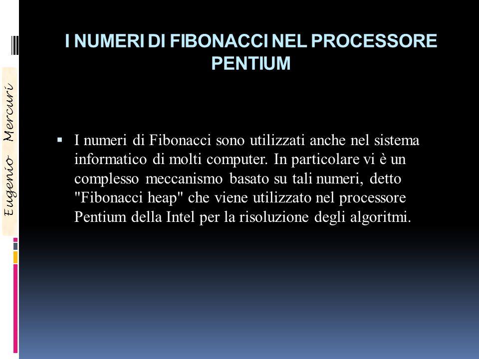 I NUMERI DI FIBONACCI NEL PROCESSORE PENTIUM