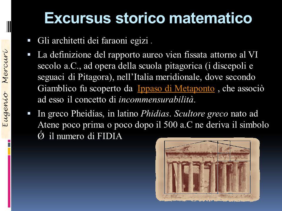 Excursus storico matematico