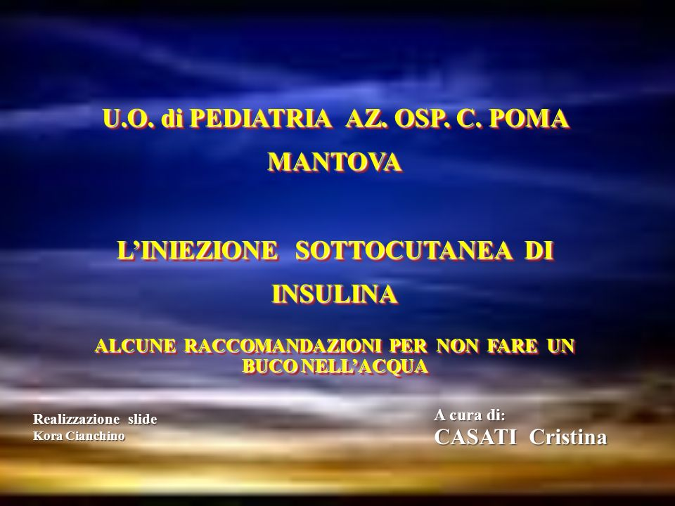 U.O. di PEDIATRIA AZ. OSP. C. POMA MANTOVA