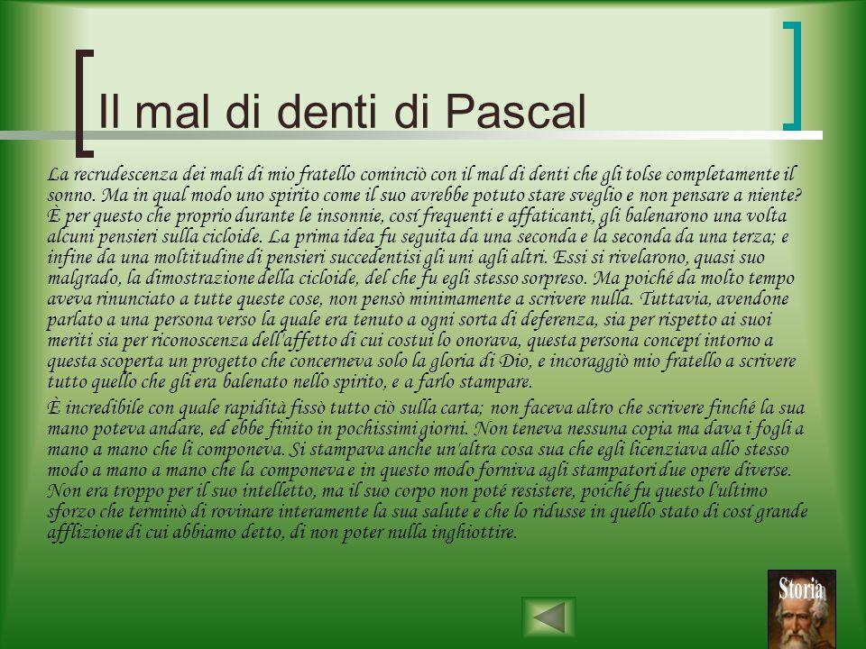 Il mal di denti di Pascal