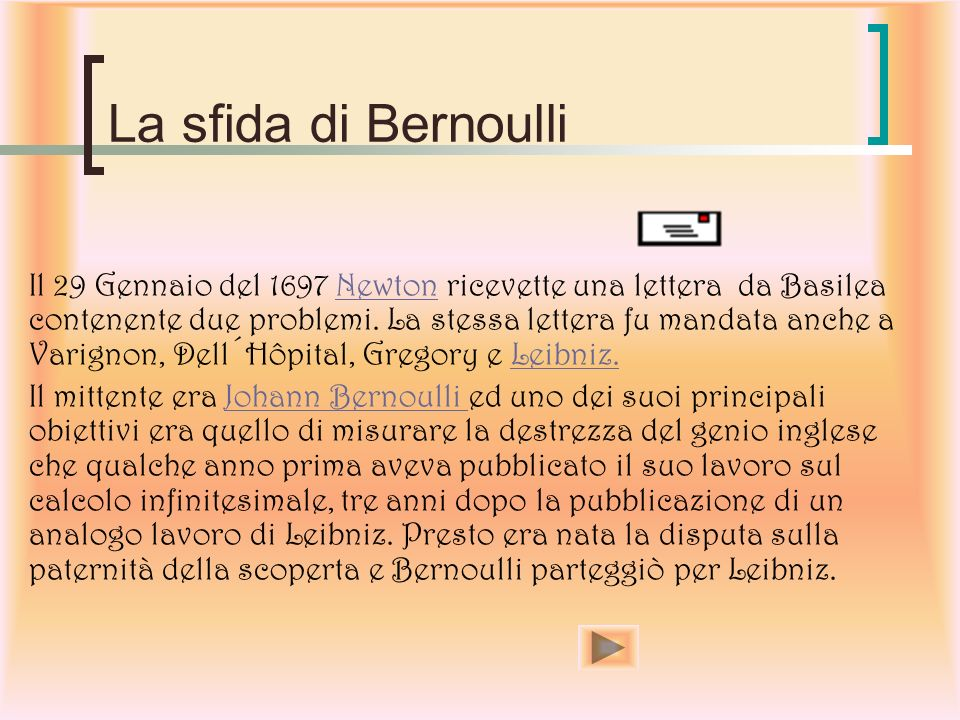 La sfida di Bernoulli