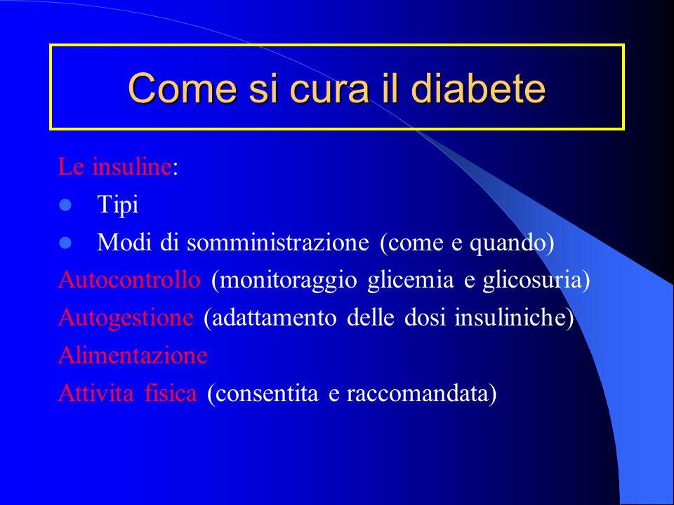 Come si cura il diabete Le insuline: Tipi