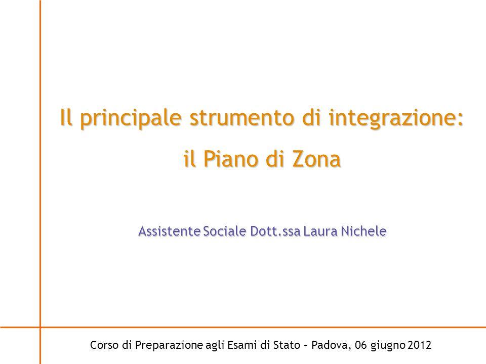 Il principale strumento di integrazione: il Piano di Zona