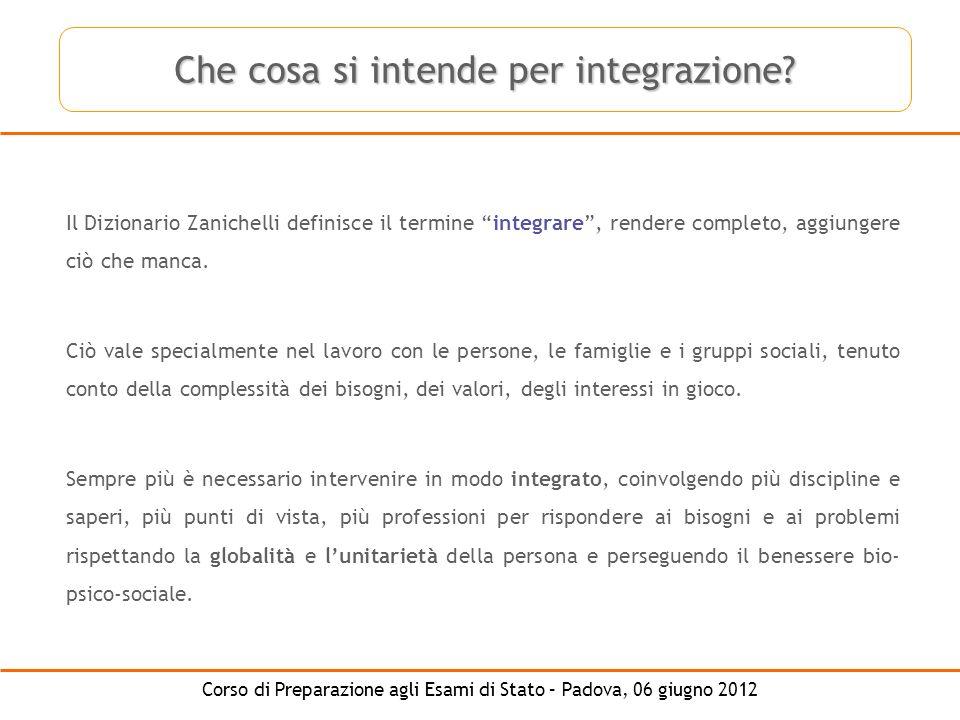 Che cosa si intende per integrazione