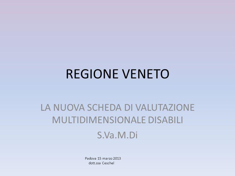 LA NUOVA SCHEDA DI VALUTAZIONE MULTIDIMENSIONALE DISABILI S.Va.M.Di