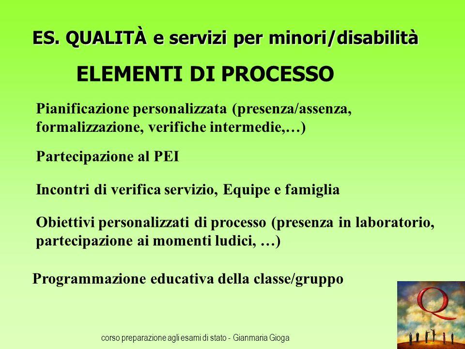 ES. QUALITÀ e servizi per minori/disabilità