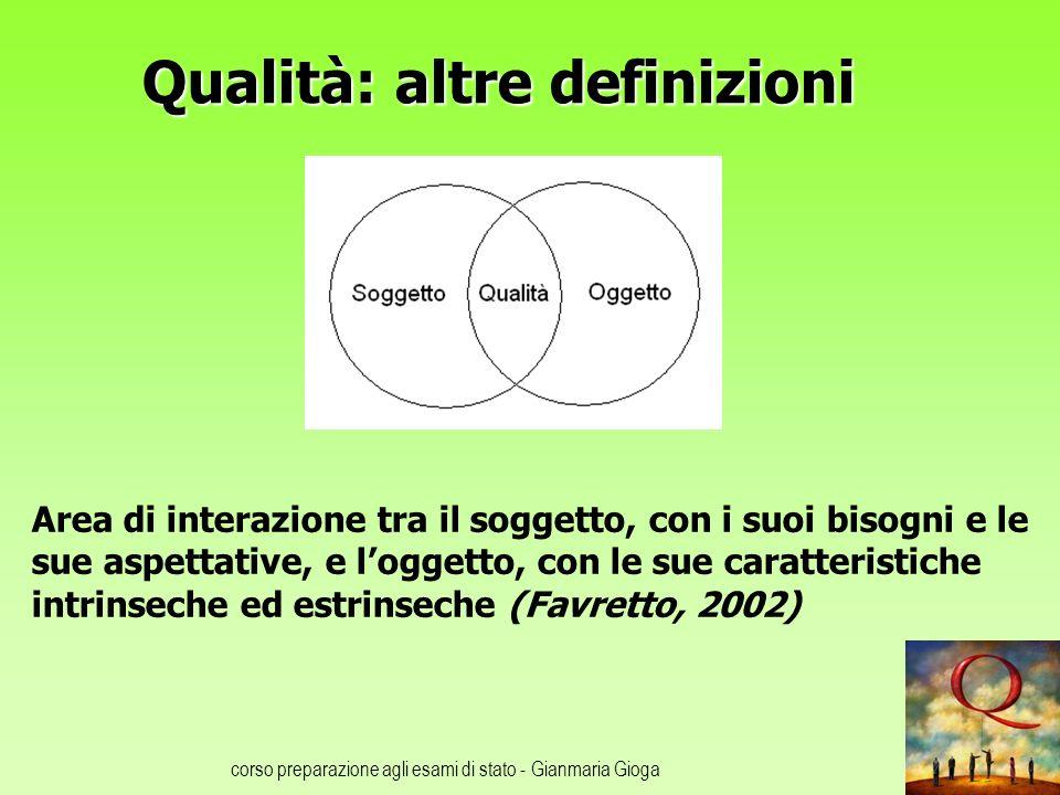 Qualità: altre definizioni