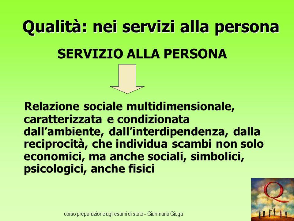 Qualità: nei servizi alla persona