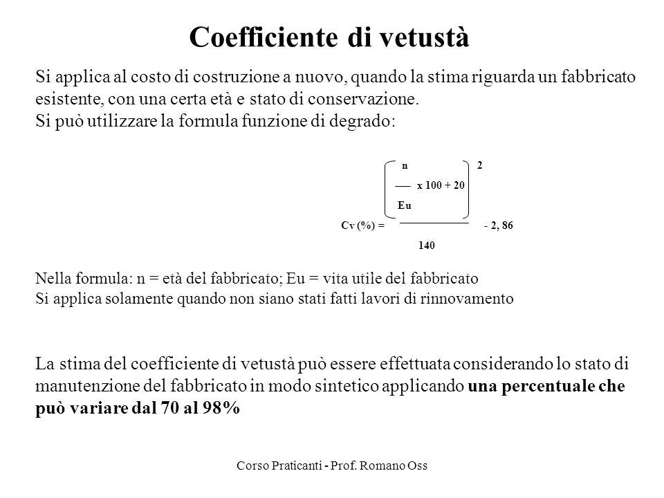 Coefficiente di vetustà