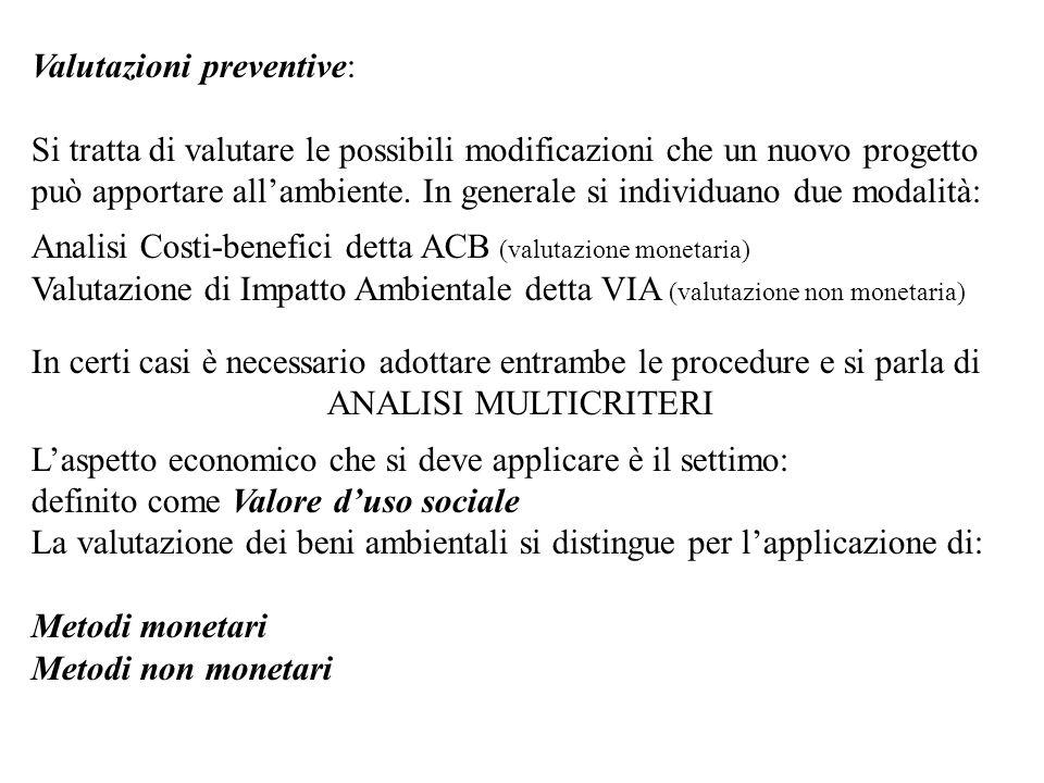 Valutazioni preventive: