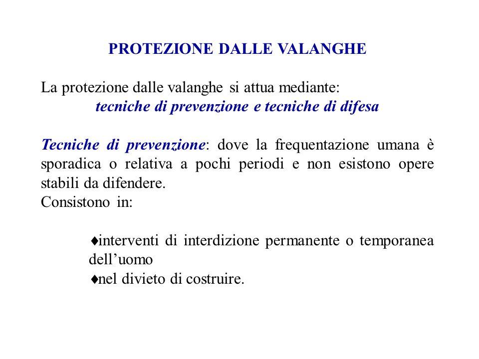 PROTEZIONE DALLE VALANGHE