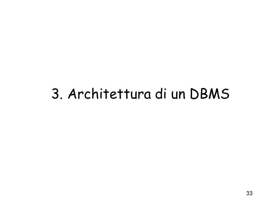 3. Architettura di un DBMS