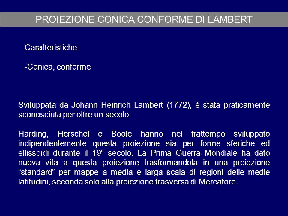 PROIEZIONE CONICA CONFORME DI LAMBERT