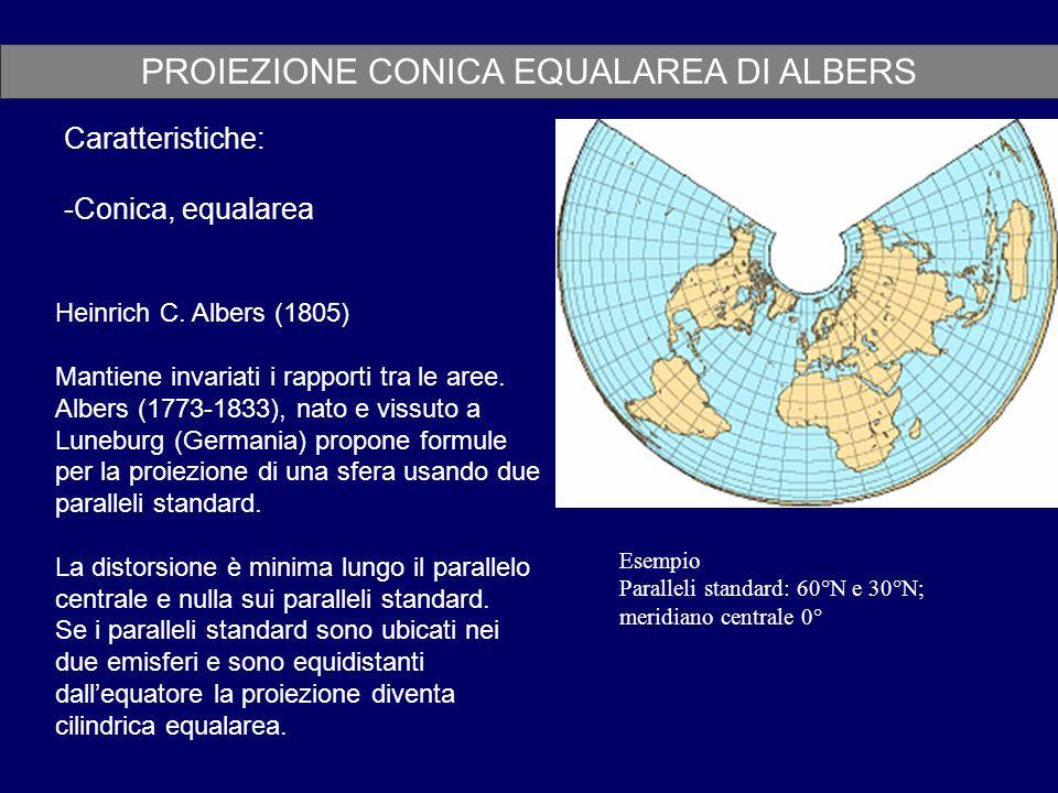 PROIEZIONE CONICA EQUALAREA DI ALBERS