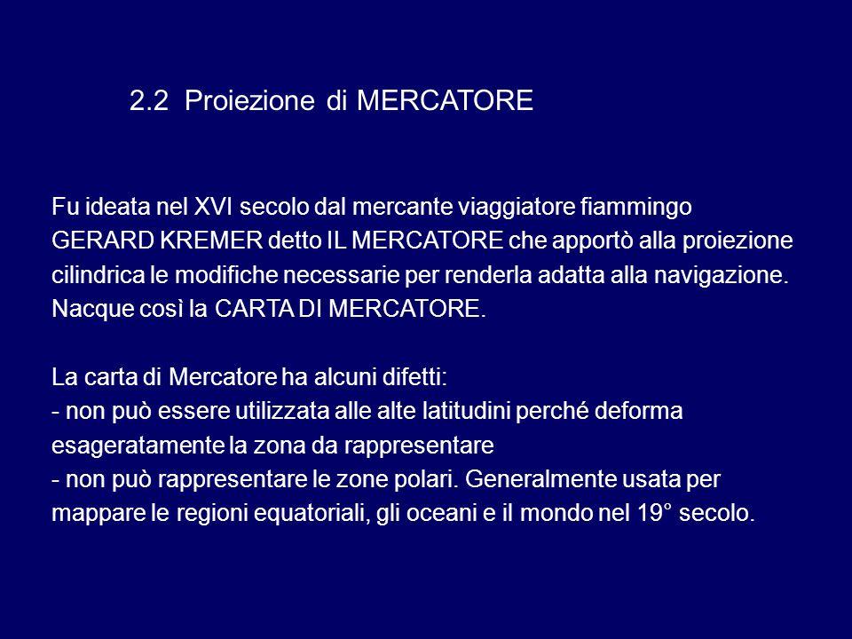 2.2 Proiezione di MERCATORE