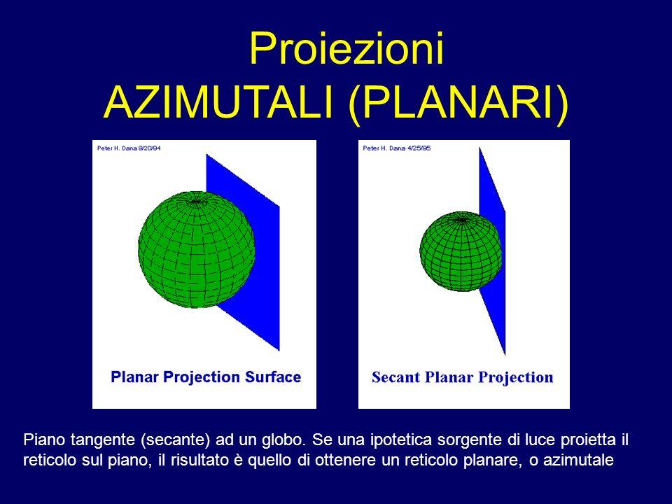 Proiezioni AZIMUTALI (PLANARI)