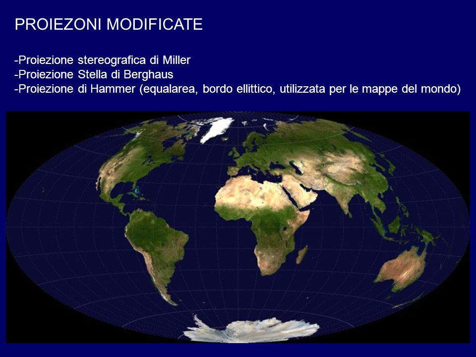 PROIEZONI MODIFICATE Proiezione stereografica di Miller
