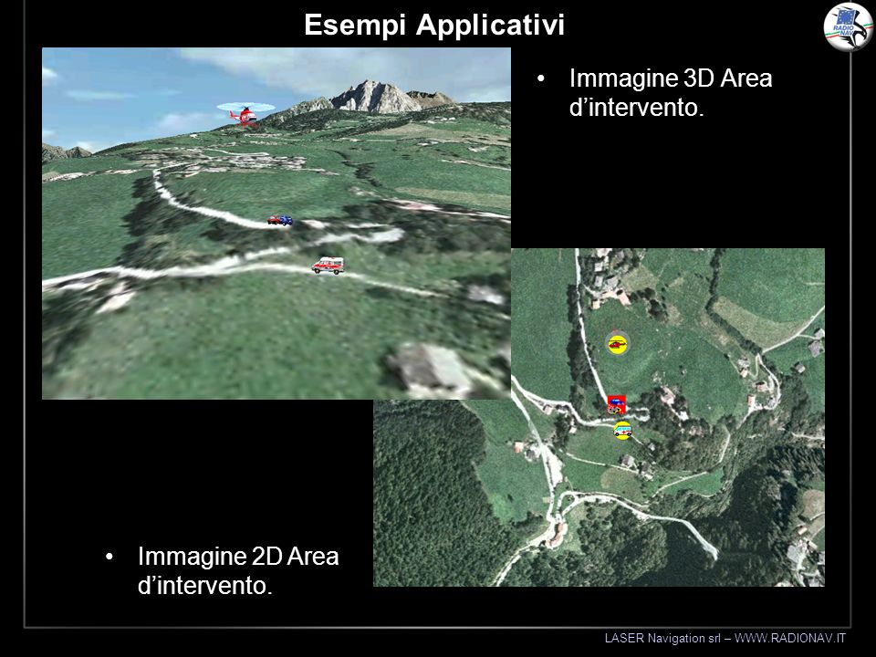 Esempi Applicativi Immagine 3D Area d'intervento.