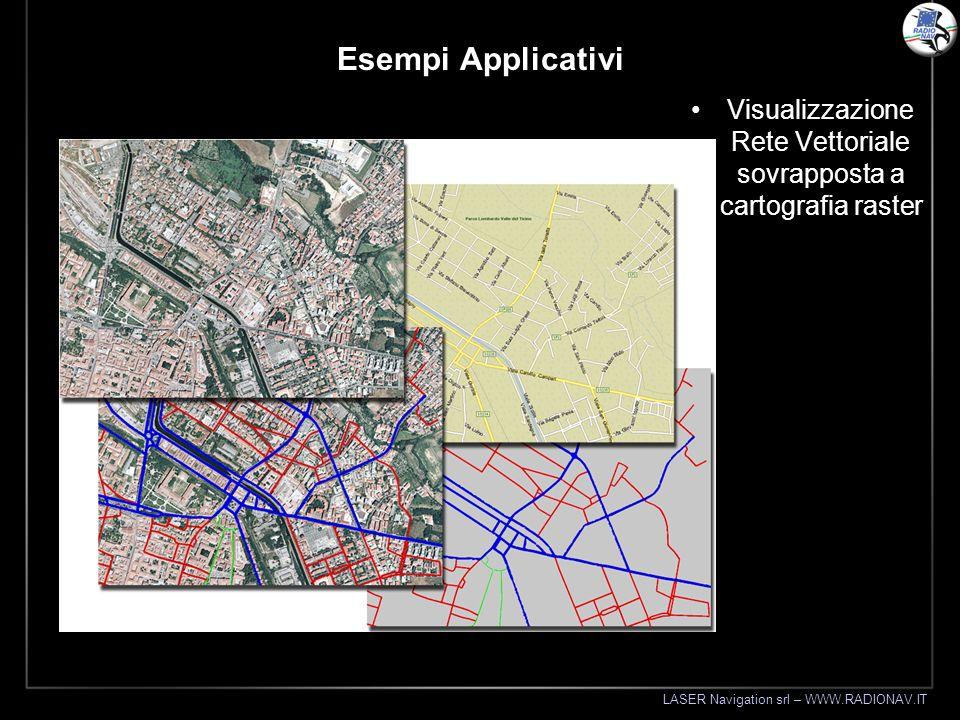 Visualizzazione Rete Vettoriale sovrapposta a cartografia raster