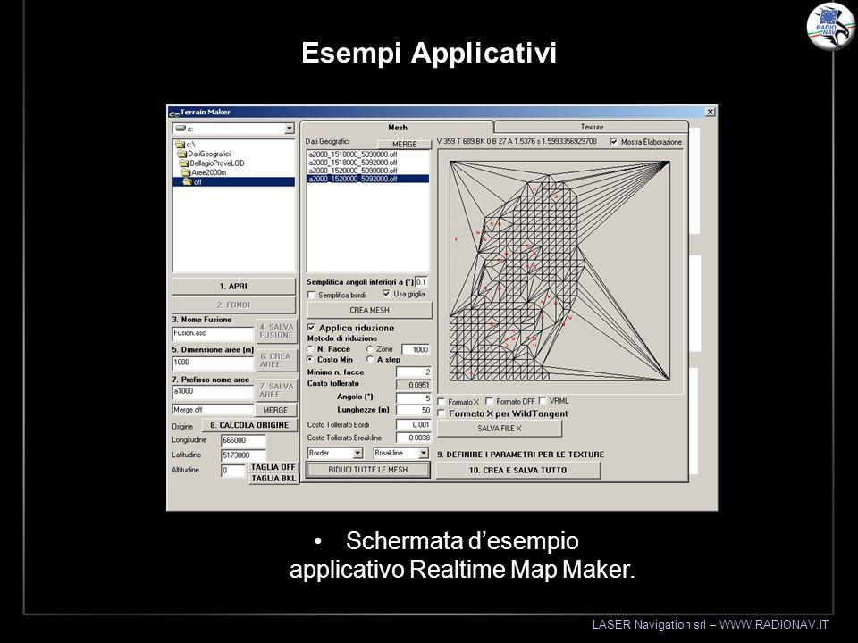 Schermata d'esempio applicativo Realtime Map Maker.